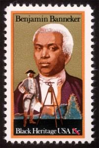 Le 15 février 1980, au cours du Mois de l'Histoire des Noirs, le Service postal des États-Unis a publié à Annapolis, Maryland, timbre de 15 cents qui illustre un portrait de Benjamin Banneker. Une image de Banneker debout derrière un télescope monté sur un trépied est superposée au portrait.