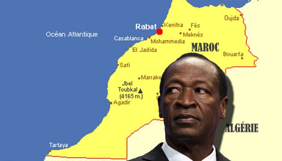 Blaise Compaoré, chassé par la rue le 31 octobre 2014 du pouvoir est arrivé le 21 novembre au Maroc accompagné de cinq personnes, et ce, pour un « séjour à durée déterminée », selon le Ministère des Affaires étrangères marocain.