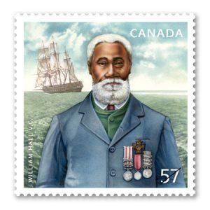Le 1er février 2010, le Canada émet un timbre tiré à 1.6 million d'exemplaires à l'effigie de William Hall. Hall est représenté devant un paysage marin composé du HMS Shannon. Il arbore sa Croix de Victoria, la Médaille de la Rébellion indienne, la Médaille turque de Crimée et la Médaille de Crimée.
