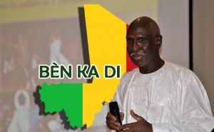 """À l'occasion de la fête nationale du Mali à Montréal, le Centre Communautaire Côte-des-Neiges et les Productions Ciwara invitaient chaleureusement à une grande soirée, sous le signe de la paix et de la réconciliation au Mali, autrement-dit """" BÈN KA DI """" en bambara - Sur la photo: Yacouba Doumbia"""