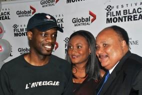 Sur la photo (gauche à droite) Pras Michel, Fabienne Colas et Martin Luther LKing III