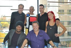 De gauche à droite, haut en bas: Simon Leclerc, Kim Richardson, Dorian Sherwood, Élizabeth Blouin-Brathwaite, Gardy Fury et Normand Brathwaite