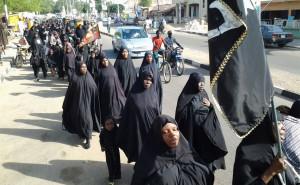 Marche du Mouvement Islamique à Bauchi en 2014