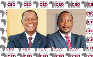 Alassane Ouattara, Président de la République de Côte d'Ivoire et Uhuru Kenyatta, Président de la République du Kenya