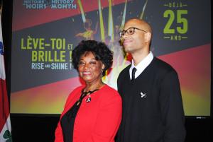 Le parrain et marraine du Mois de l'Histoire des Noirs 201: Ranee Lee et Webster. L'Humoriste/Rappeur Eddy King fait aussi partie du lot mais brillait par son absence à cet évènement du 19 janvier 2016.