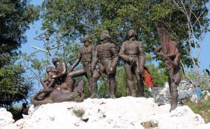 Le monument de Vertières symbolisant la bataille décisive pour l'indépendance d'Haïti qui eut lieu le 18 novembre 1803.