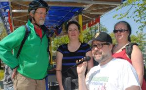 Sur la photo de gauche à droite: Jean Panet-Raymond, France Émond, David Heurtel et Dominique Perreault