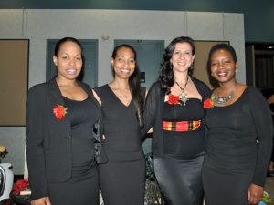 NeoFuse Events. De gauche à droite: Cynthia Delpé, Tamara Delpé, Nacima Bouzerar et Gina Odigé