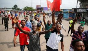 Manifestation à Kinshasa contre le Président Joseph Kabila dans les rues de la capitale de la République démocratique du Congo , le 20 décembre 2016.