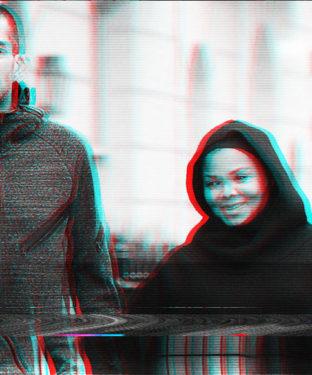 Wissam Al Mana et Janet Jackson durant sa grossesse à Londres.