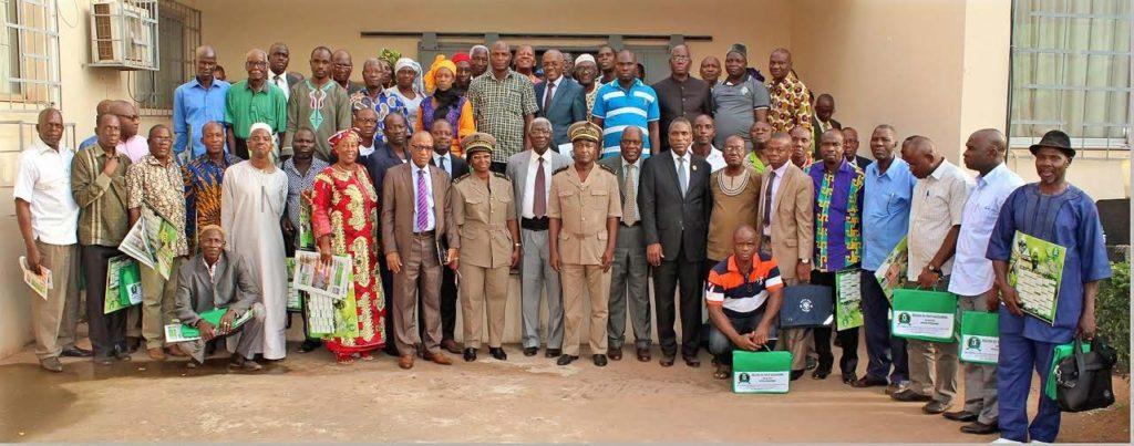 Les conseillers régionaux et les membres du Comité Economique Social Environnemental Régional du Haut-Sassandra