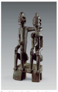 Dogon, Mali, statue dege dyinge représentant le « couple de jumeaux primordiaux »