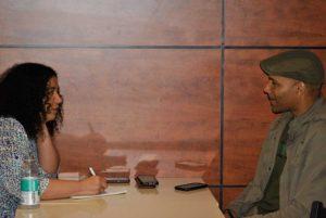 Entrevue entre Wiel Prosper et Odile Rampy, le mardi 5 juin au restaurant Steve-Anna dans le quartier Saint-Michel