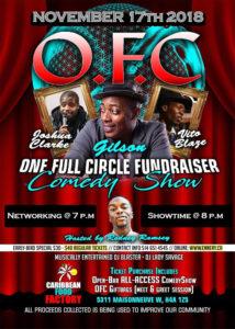 L'OFC a récemment lancé une initiative permettant la création de davantage de richesses dans la communauté noire. Pour financer cette initiative, l'OFC a mis sur pied ce spectacle ce humoristique.