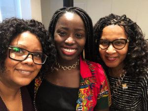 De gauche à droite: Sabrina Jafralie, Nana Boahen et Sylvia Parris Drummond
