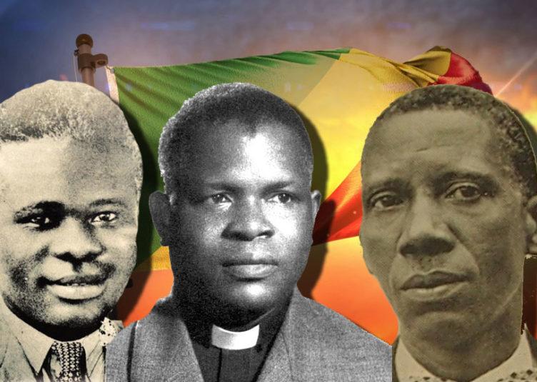 Jean Félix Tchivaya, Fulbert Youlou et Jacques Opangault